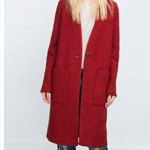 ZARA Wool Coat:D/Orange, US S, M, L/EUR S,  M, L